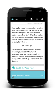 Studycopter on Android Phones-My Tutor Feature-GMAT Tutor