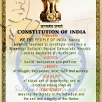Constition of India Preamble Indian Constitution Day 26 11 November 1949 Father of India Dr Ambedkar We the people