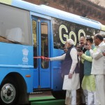 The Prime Minister, Shri Narendra Modi attends the function for Demonstration of Retrofit Electric Bus, at Parliament House, in New Delhi on December 21, 2015.