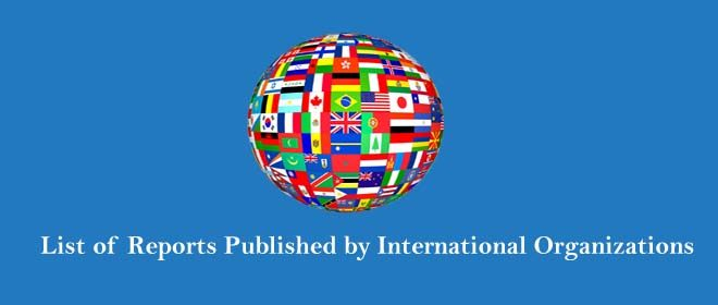 List of Reports published by International Organizations