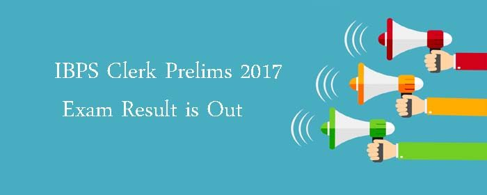 IBPS Clerk Prelims Result 2017 Out : Check Result Here Read more: http://www.bankersadda.com/2017/12/ibps-clerk-prelims-result.html#ixzz52eiKIPQF