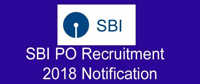 SBI Recruitment 2018 Notification