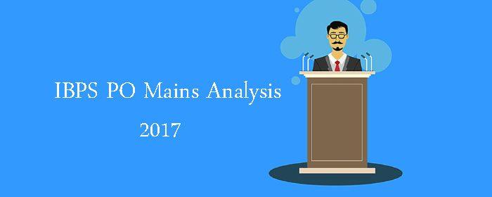IBPS PO Mains Analysis 2017