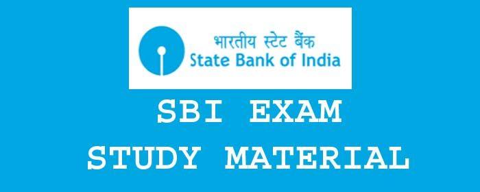 Sbi Associate Clerk Study Material Pdf