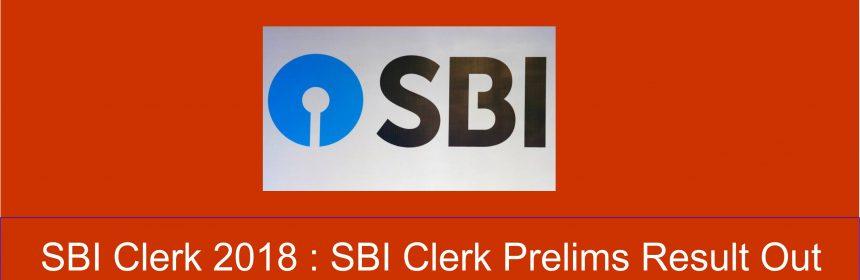 SBI Clerk Prelims Result Out