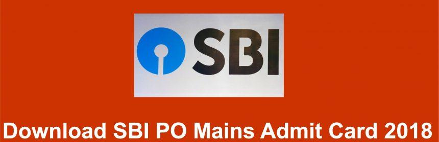 SBI PO Mains Admit Card 2018